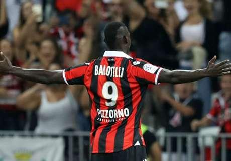 Balotelli scores twice on Nice debut