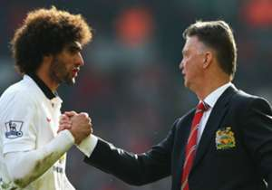 """LOUIS VAN GAAL on Marouane Fellaini's Goodison Park return: """"I have spoken with Fellaini because I know this. Fellaini is always dry in his answers. He said: 'It's a game.' 'Yes, but it's a special game for you.' I hope the fans shall receive him like ..."""