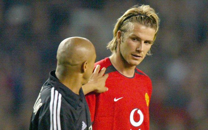 David Beckham, Roberto Carlos - Manchester United vs Real Madrid Champions League 2002-03 Old Trafford