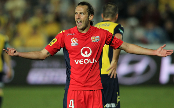 Jonathan McKain Central Coast Mariners v Adelaide United A-League elimination final 140419