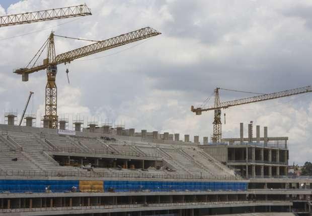 Die Arena in Sao Paulo ist weiterhin eine Baustelle