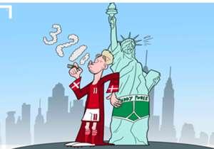 Bendtner lords it over United States