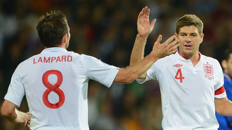 Frank Lampard Steven Gerrard England
