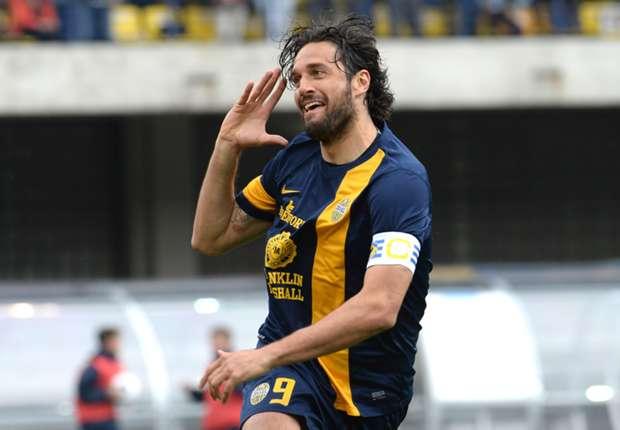 Auch bei Hellas Verona: Der typische Toni-Jubel