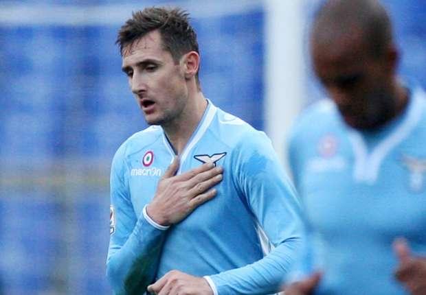 Miroslav Klose kämpft mit Lazio um die internationalen Plätze