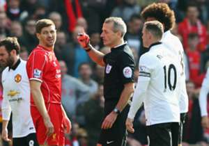 Steven Gerrard's red card, 38 seconds after coming on as a substitute in a 2-1 defeat to Manchester United on Sunday was the eighth dismissal of the Liverpool captain's career - Goal runs through all of the 34-year-old's dismissals over a career spanni...