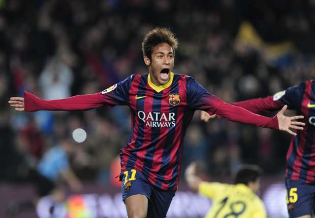 Barcelona forward Neymar celebrates