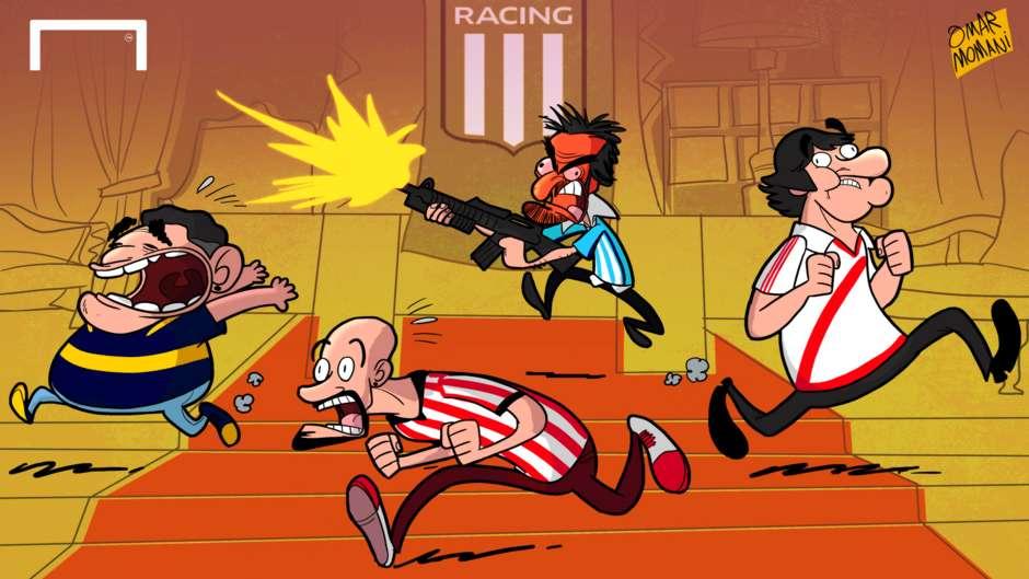 CARTOON Al Pacino Racing
