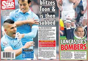 <strong>SUNDAY STAR | England | 5ergio: Aguero blitzes Toon and then is subbed </strong> <br> <strong>PLUS:</strong> LVG: Rest Roo, Roy | Cat Fight: Pearson v Dyche as Dick set to go