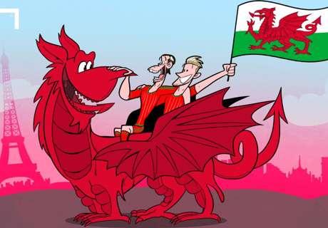 Cartoon: o vôo de Bale e Gales!