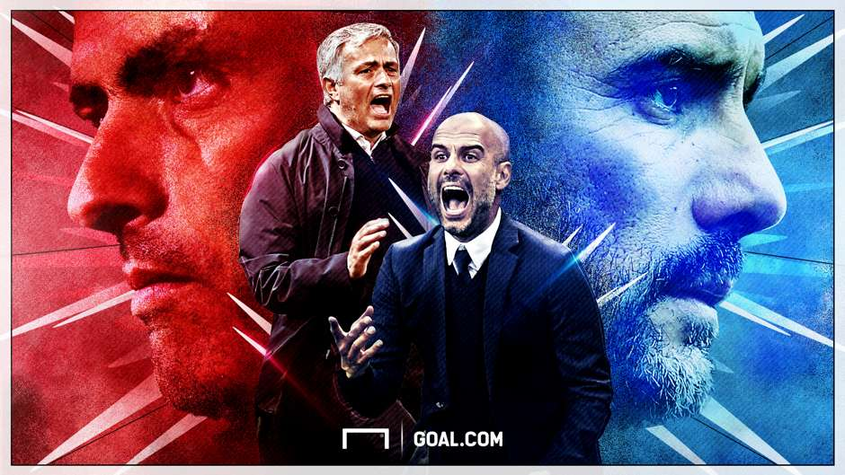 Jose Mourinho Pep Guardiola Manchester United Manchester City