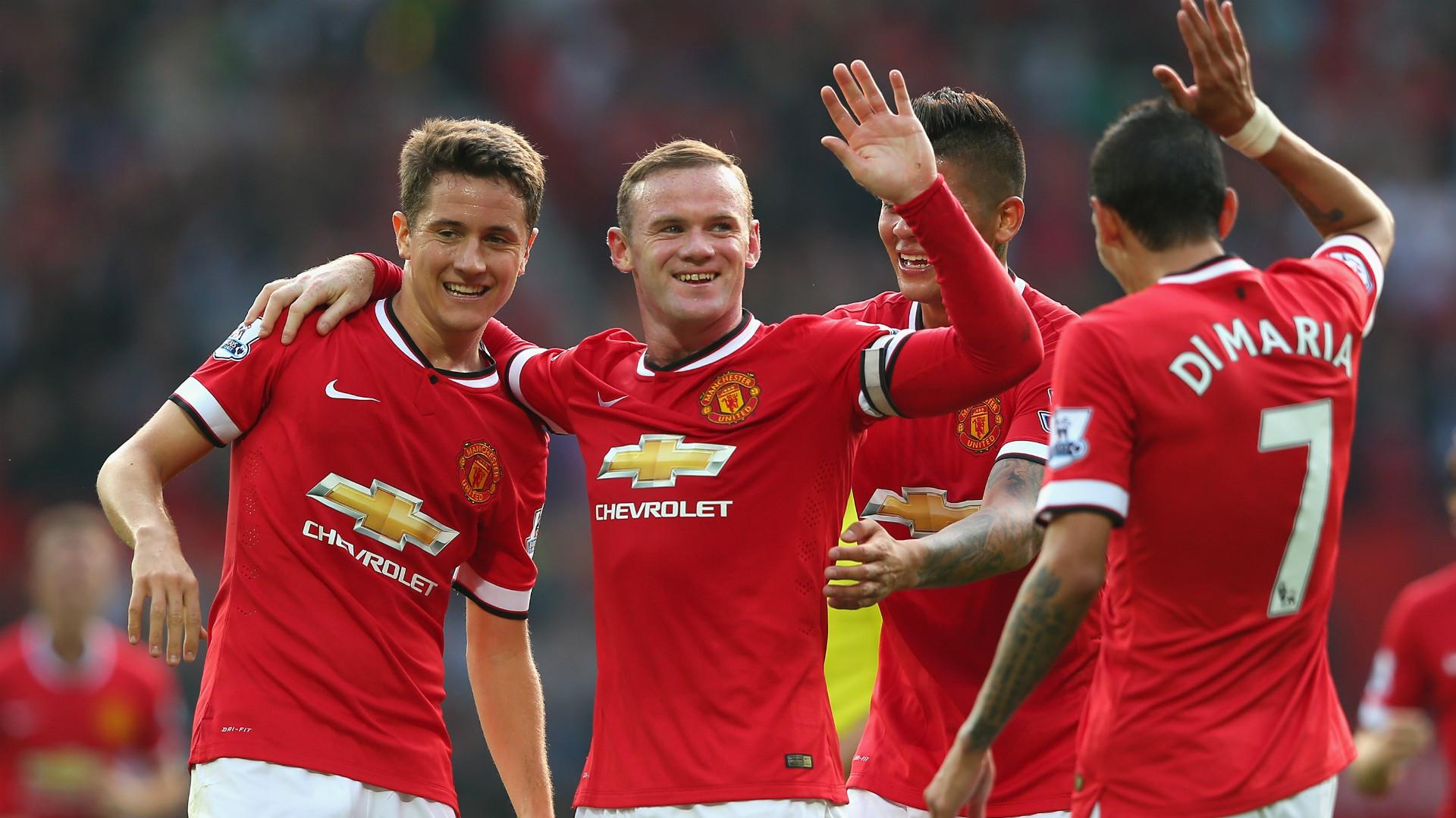 Wayne Rooney Ander Herrera Angel Di Maria Marcos Rojo
