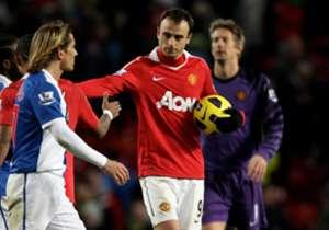 Berbatov mencetak lima gol ke gawang Blackburn.
