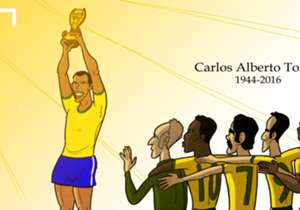 The football world was in mourning after Brazil's 1970 World Cup-winning captain Carlos Alberto passed away on Tuesday aged 72.