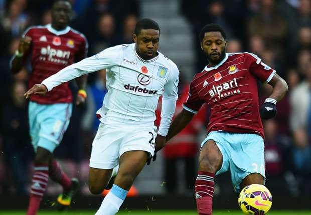 West Ham 0-0 Aston Villa: Lambert's side earn first point in seven games