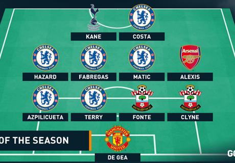 Best XI : ทีมยอดเยี่ยมพรีเมียร์ลีก ฤดูกาล 2014-2015
