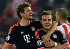 Thomas Muller; Mario Gotze Bayern Munich