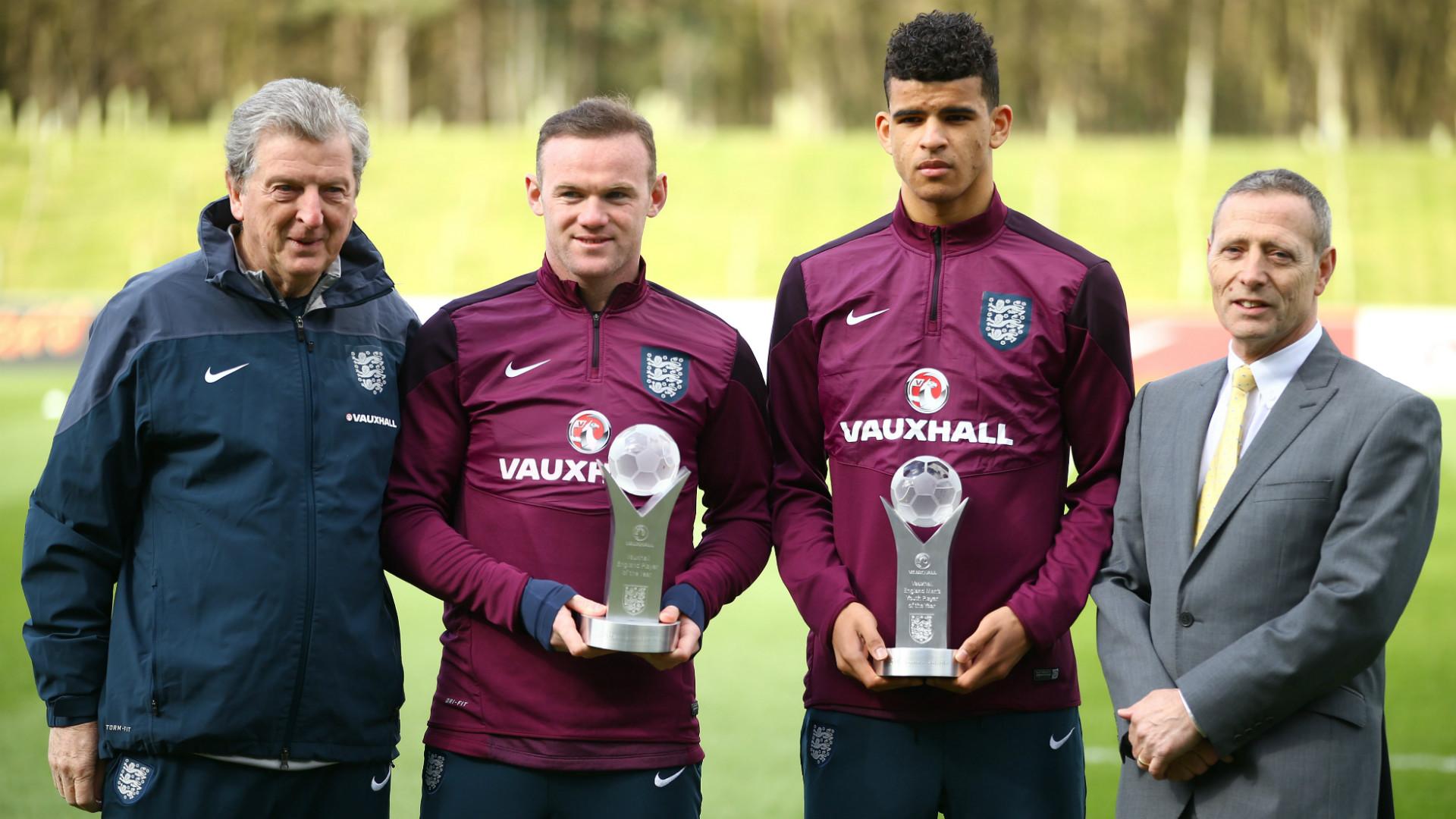 Wayne Rooney Dominic Solanke England training session 24032015