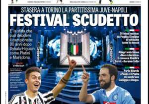 <strong>GAZZETTA DELLO SPORT | Italy | SCUDETTO FESTIVAL | </strong>Juve vs Napoli: The big game tonight in Turin