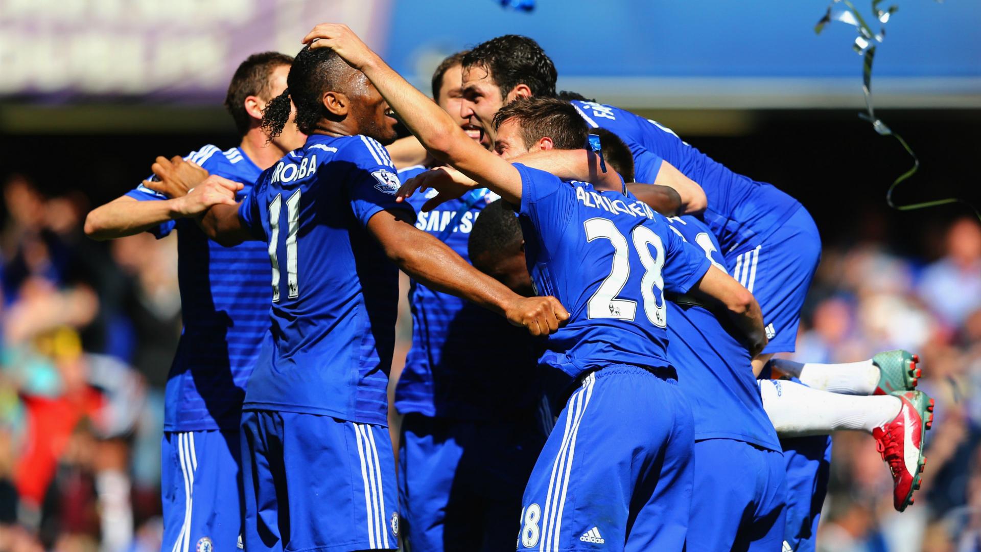 Chelsea celebrate Premier League title - Goal.com