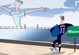Zlatan Ibrahimovic retornará à cidade onde nasceu na Suécia. O Malmo foi sorteado no mesmo grupo do Paris Saint-Germain na Champions League 2015/16