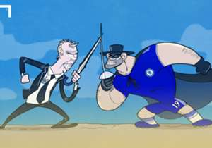 Diego Costa will wear a Zorro-like mask after breaking his nose in training, with the Chelsea looking to slay Newcastle and their manager Steve 'Wally with the Brolly' McClaren at Stamford Bridge.