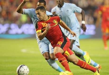 Hazard captains Belgium squad