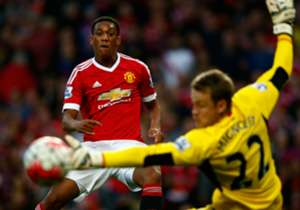 OPTA STATS | MANCHESTER UNITED 3-1 LIVERPOOL | Anthony Martial scored with his first ever shot in the Premier League. There was 1m 56s between Christian Benteke's goal and Martial's in this match.