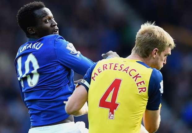 Romelu Lukaku Everton; Per Mertesacker Arsenal