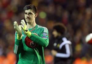 "GOALKEEPER | Thibaut Courtois | Belgium | The Chelsea keeper produced a man of the match display to keep out Israel on Tuesday and also kept a clean sheet in Belgium's 5-0 win over Cyprus.<br /><br /><a href=""http://www.sportsdirect.com/goal?utm_source..."