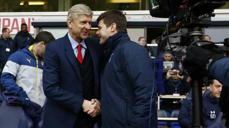 Arsene Wenger Arsenal; Mauricio Pochettino Tottenham