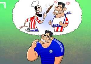 """""""Ele nos convidou várias vezes para comer em sua casa. Gostava muito do kebab de lá"""", disse Diego Costa, interessado em jogar novamente Arda Turan - dessa vez no Chelsea"""