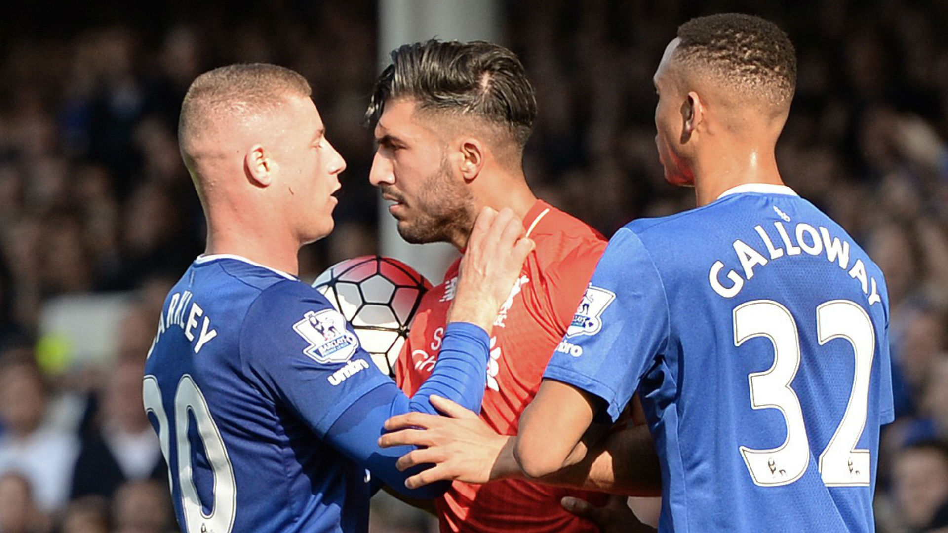 Ross Barkley Everton; Emre Can Liverpool