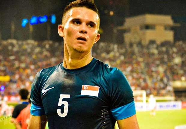 Baihakki Khaizan in Singapore colours at AFF Suzuki Cup 2012