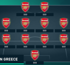 The last Arsenal XI to win in Greece