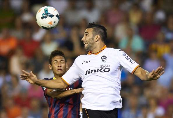 Neymar Barcelona Adil Rami Valencia Liga 09012013