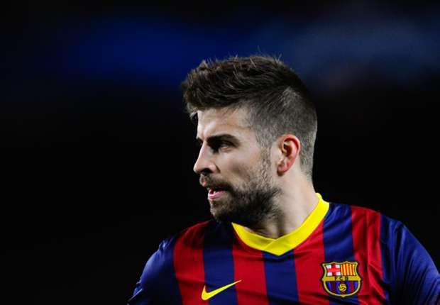 Barcelona defender Gerard Pique
