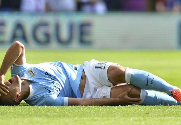 Aguero raises injury fears ahead of Manchester City's Champions League clash with Juventus