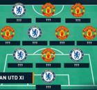Galeria: a 'seleção' de Chelsea e United para sábado