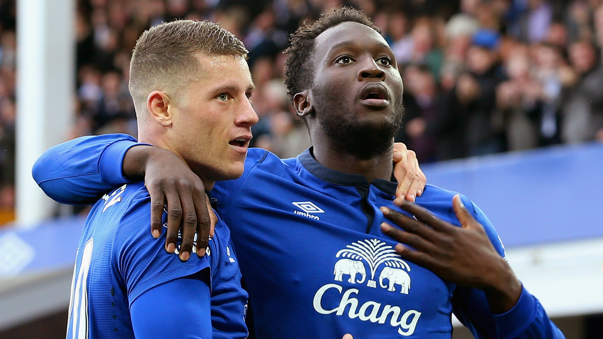 Romelu Lukaku Ross Barkley Everton Aston Villa
