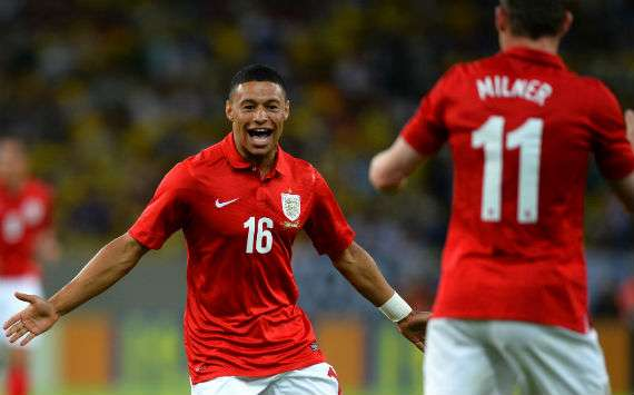 International Friendly; Alex Oxlade Chamberlain; Brazil v England