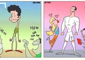 Un repaso por los cartoons del portugués en el torneo que terminó por conquistar junto a Real Madrid. El antes y el después del portugués.