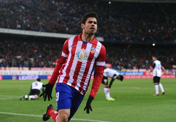 Diego Costa, titular en el Barcelona - Atlético de Madrid