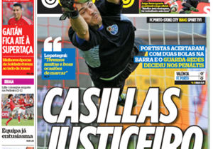 <strong>O JOGO | PORTUGAL | RIGHTEOUS CASILLAS |</strong> Porto hit the bar twice in their pre-season friendly against Valencia before the ex-Madrid goalkeeper decided the shoot-out<br /><br /><strong>Plus:</strong> SPORTING SHOW THEIR CLAWS | LOPETEGU...