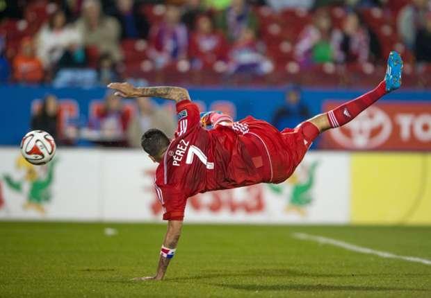 Blas Perez, FC Dallas; Major League Soccer 03222014