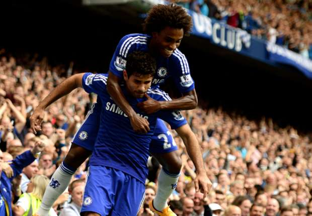 Diego Costa Premier League Chelsea v Aston Villa 270914