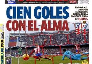 MARCA | ESPAÑA | Cien goles con el alma. Simeone y el Vicente Calderón estallan de alegría con la simbólica diana de Fernando Torres