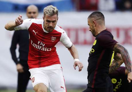 Ramsey sports bizarre haircut