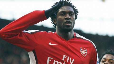 ARSENAL GOALSCORER Emmanuel Adebayor