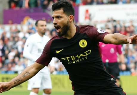 Aguero nets two in Man City return
